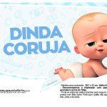 Plaquinhas divertidas Cha de bebe Poderoso Chefinho 16