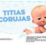 Plaquinhas divertidas Cha de bebe Poderoso Chefinho 18