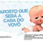 Plaquinhas divertidas Cha de bebe Poderoso Chefinho 19