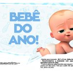 Plaquinhas divertidas Cha de bebe Poderoso Chefinho 2
