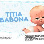 Plaquinhas divertidas Cha de bebe Poderoso Chefinho 20