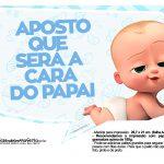Plaquinhas divertidas Cha de bebe Poderoso Chefinho 23
