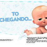 Plaquinhas divertidas Cha de bebe Poderoso Chefinho 24