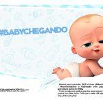 Plaquinhas divertidas Cha de bebe Poderoso Chefinho 26