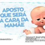 Plaquinhas divertidas Cha de bebe Poderoso Chefinho 27