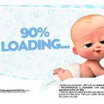 Plaquinhas divertidas Cha de bebe Poderoso Chefinho 28