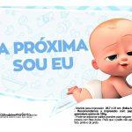 Plaquinhas divertidas Cha de bebe Poderoso Chefinho 29