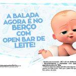 Plaquinhas divertidas Cha de bebe Poderoso Chefinho 3