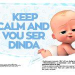 Plaquinhas divertidas Cha de bebe Poderoso Chefinho 7