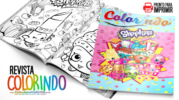 Revista Gratis para Colorir Shopkins