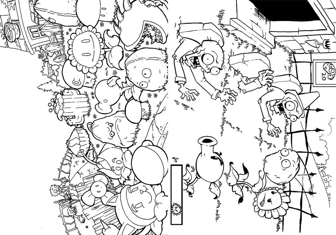 Revista para Colorir Plants vs Zombies 13