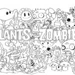 Revista para Colorir Plants vs Zombies 14