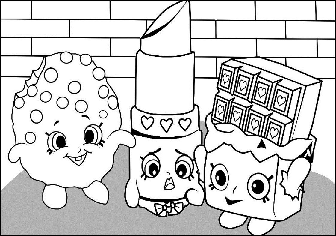 imagem para colorir shopkins desenhos do shopkins para