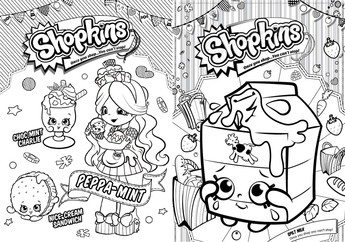 Revista para Colorir Shopkins 9