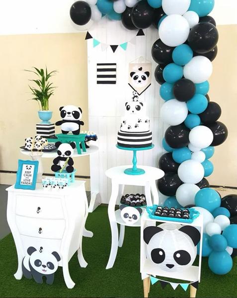 12 panda mini table decoracao