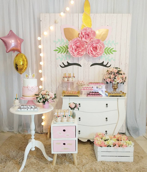 13 unicornio mini table decoracao