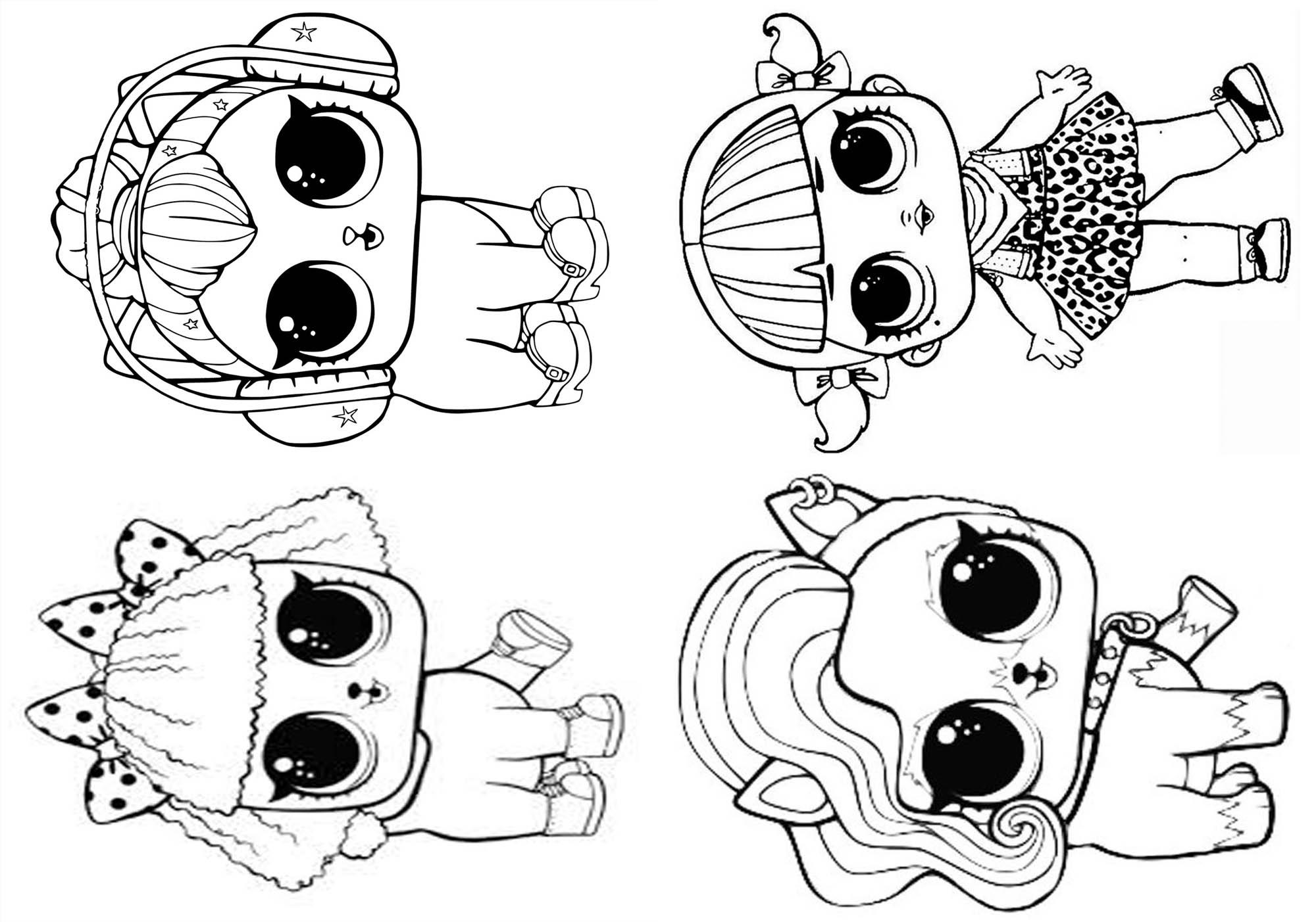 Imagens Da Lol Para Pintar E Imprimir: 14 Livrinho Para Colorir Festa Lol Surprise
