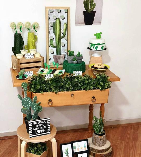 15 cactus mini table decoracao