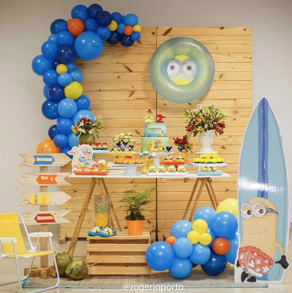 17 minions mini table decoracao