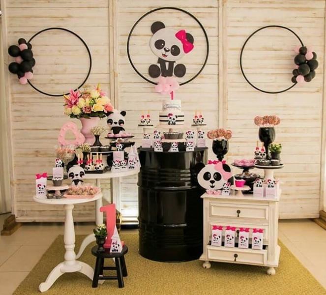 5 decoracao mini table panda menina