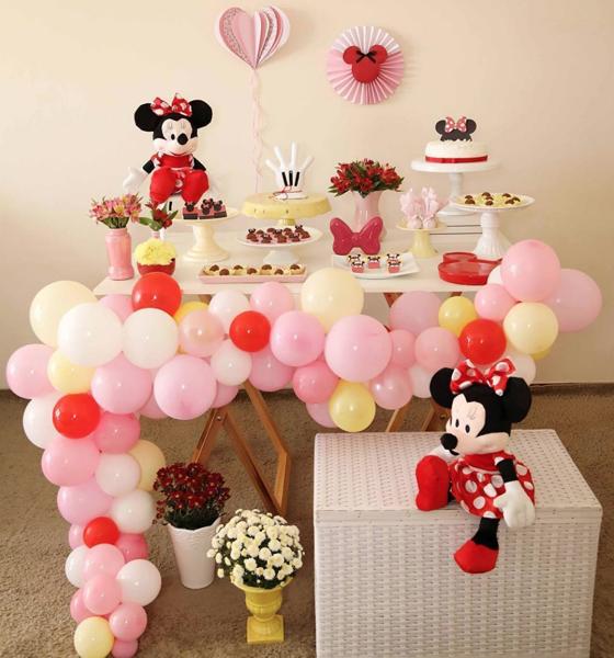 6 decoracao mini table minnie
