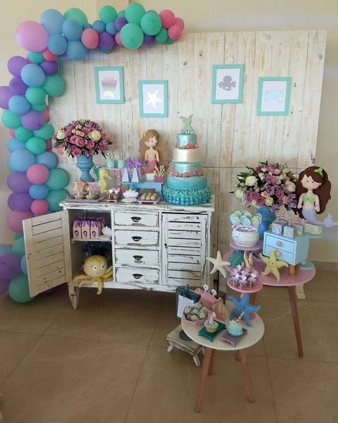 7 decoracao mini table sereia