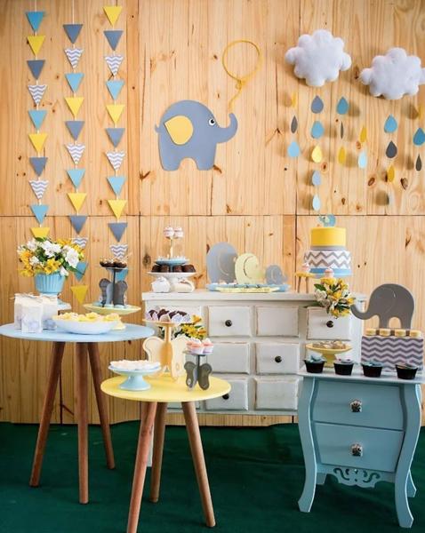 8 decoracao mini table elefantinho