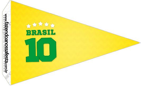 Bandeirinha Sanduiche 2 Copa do Mundo Kit Festa