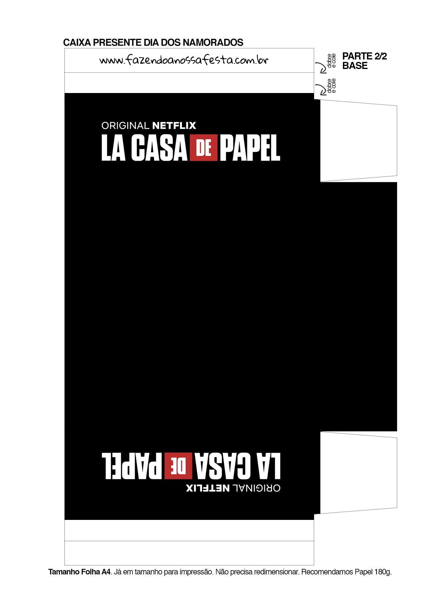Caixa Brigadeiro La Casa de Papel la casa de papel 1