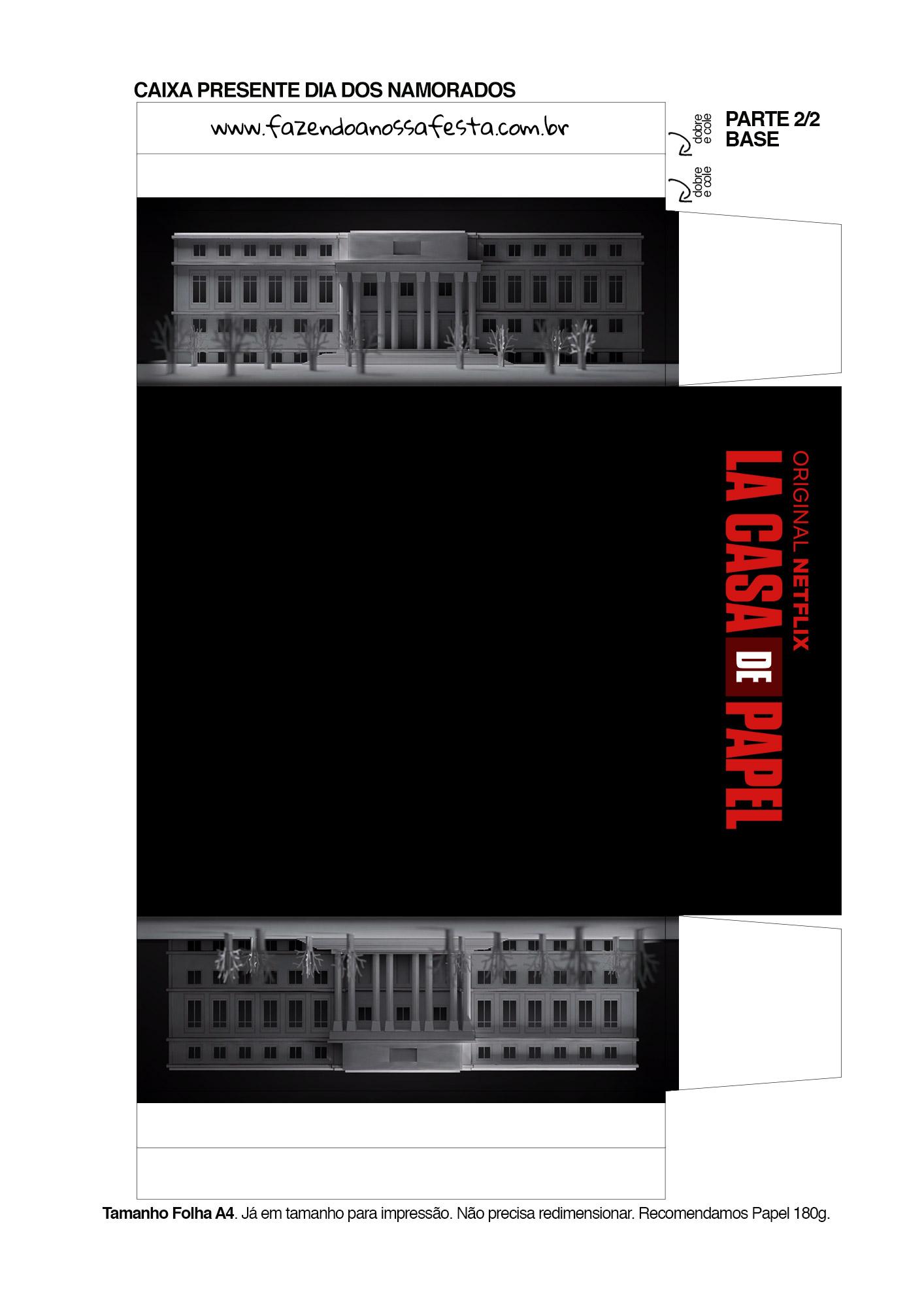 Caixa Brigadeiro La Casa de Papel la casa de papel 3