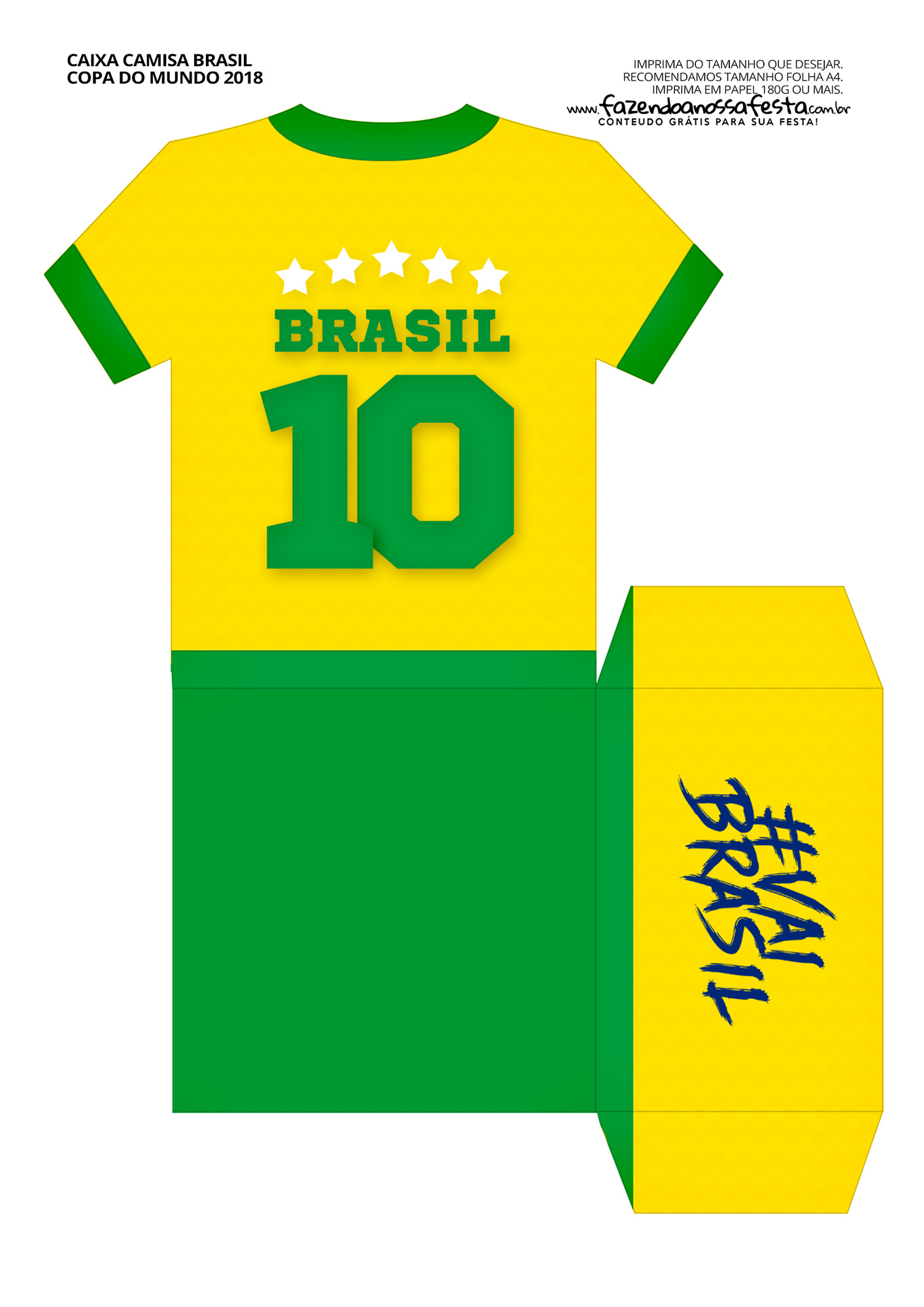 Caixa Camisa Copa do Mundo parte 1