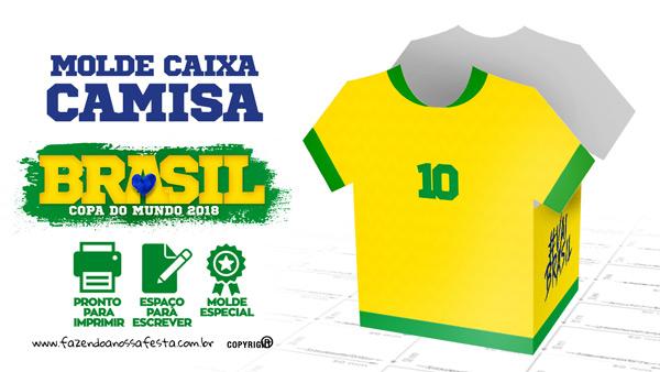 7242b3cf2 Caixa Camisa Copa do Mundo Grátis para Imprimir em Casa