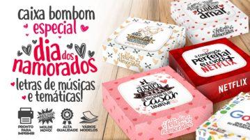 Caixa Musical Dia dos Namorados para Imprimir