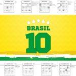 Calendario 2017 Copa do Mundo Kit Festa