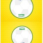 Cartao Agradecimento de mesa Copa do Mundo