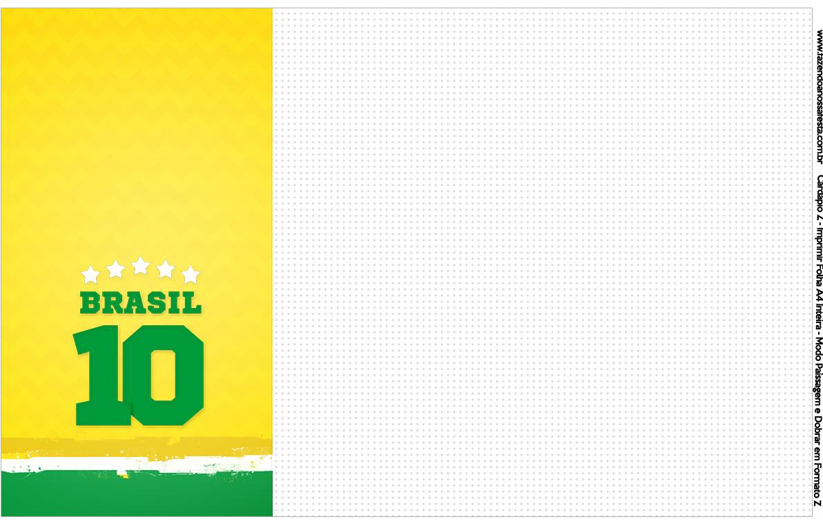 Convite Cardapio ou Cronograma em Z Copa do Mundo