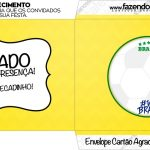 Envelope do Cartao Agradecimento Copa do Mundo