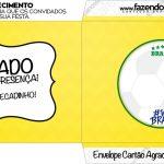 Envelope do Cartao Agradecimento Copa do Mundo