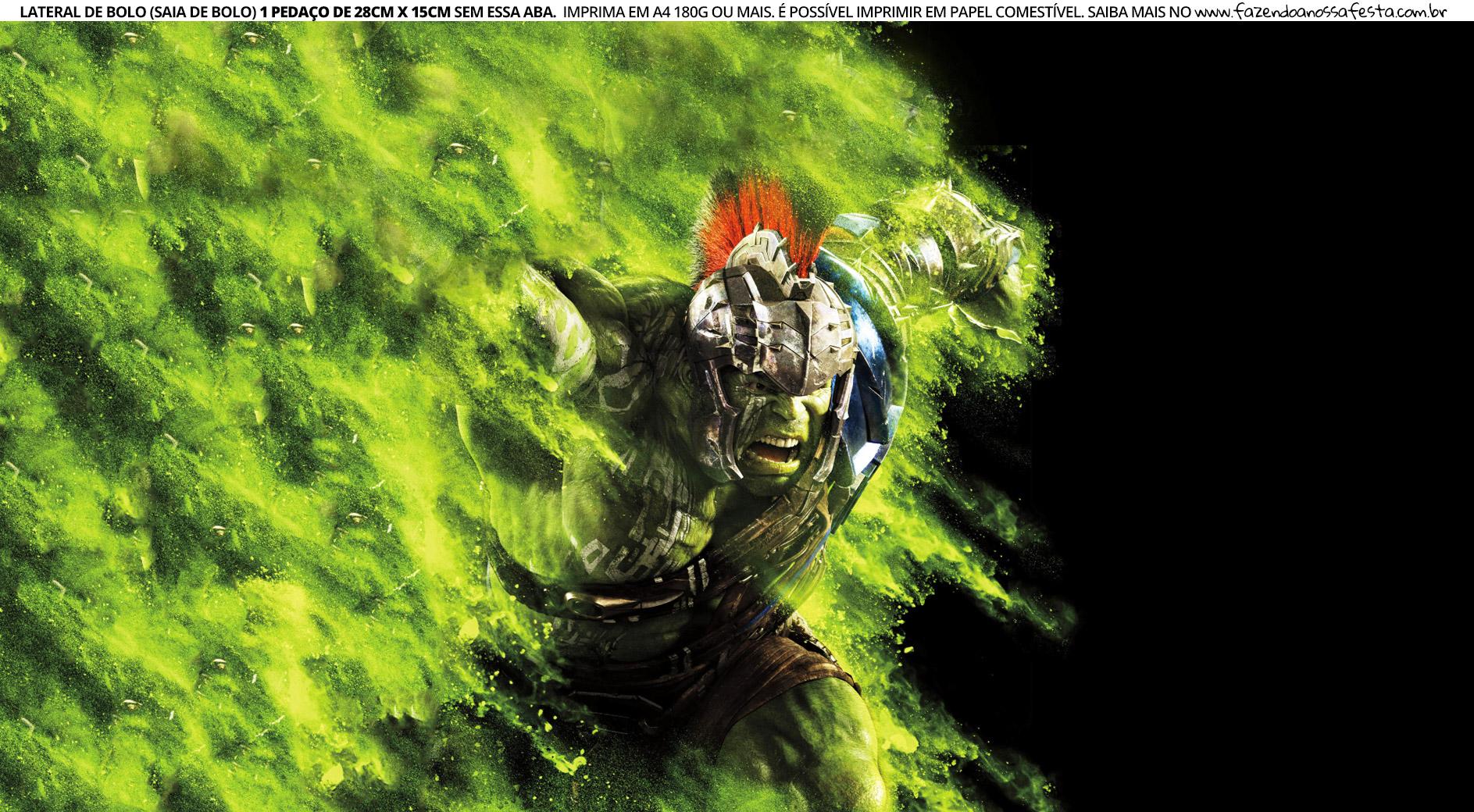 Faixa Lateral para Bolo Hulk 2