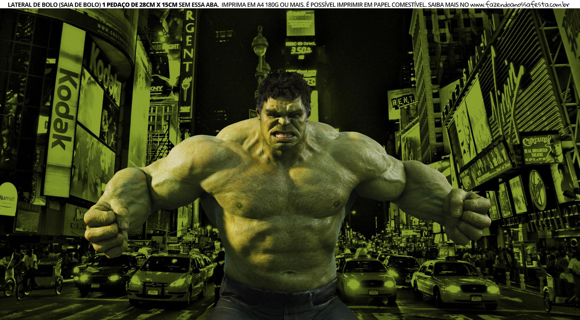 Faixa Lateral para Bolo Hulk 3