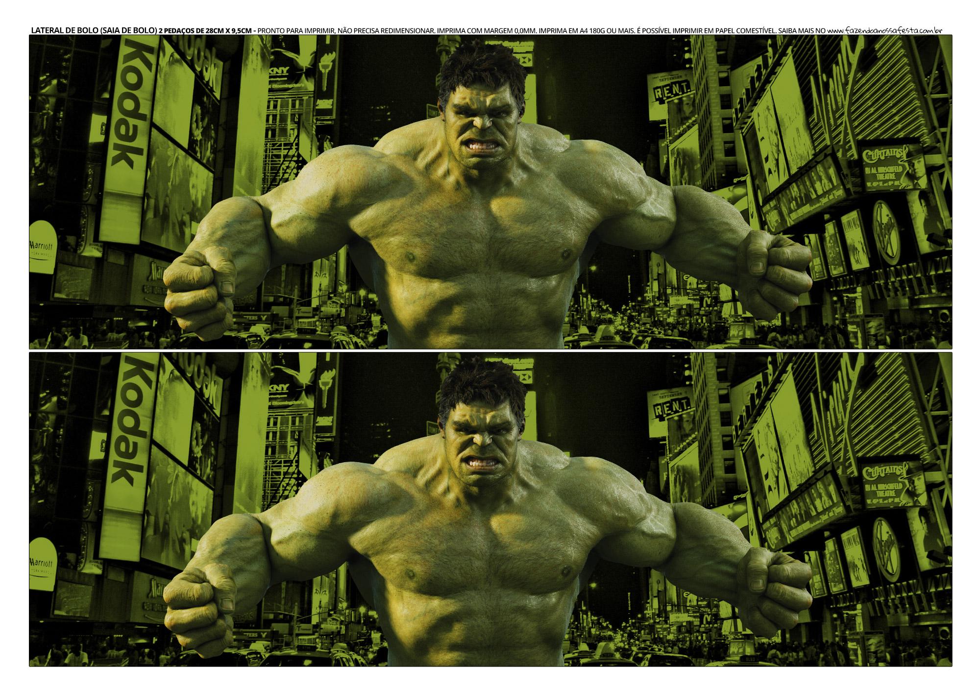Faixa Lateral para Bolo Hulk 6
