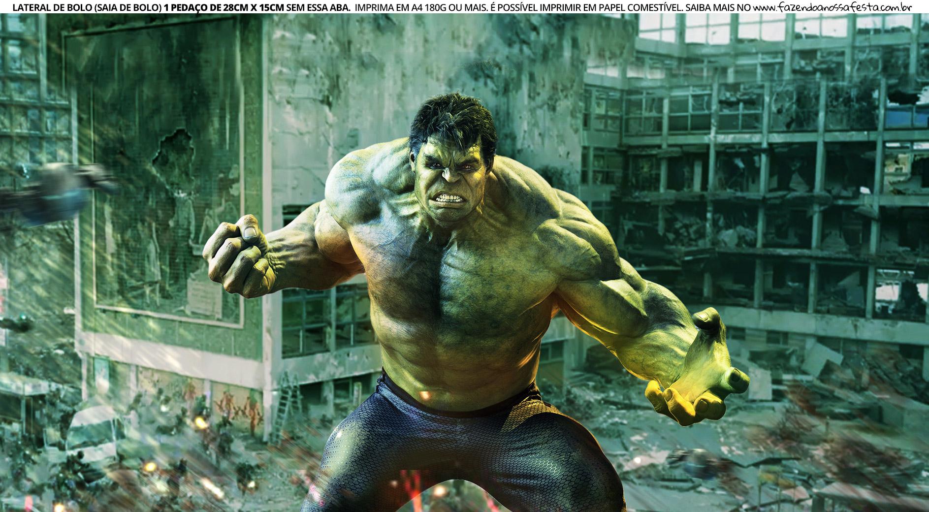 Faixa Lateral para Bolo Hulk 8