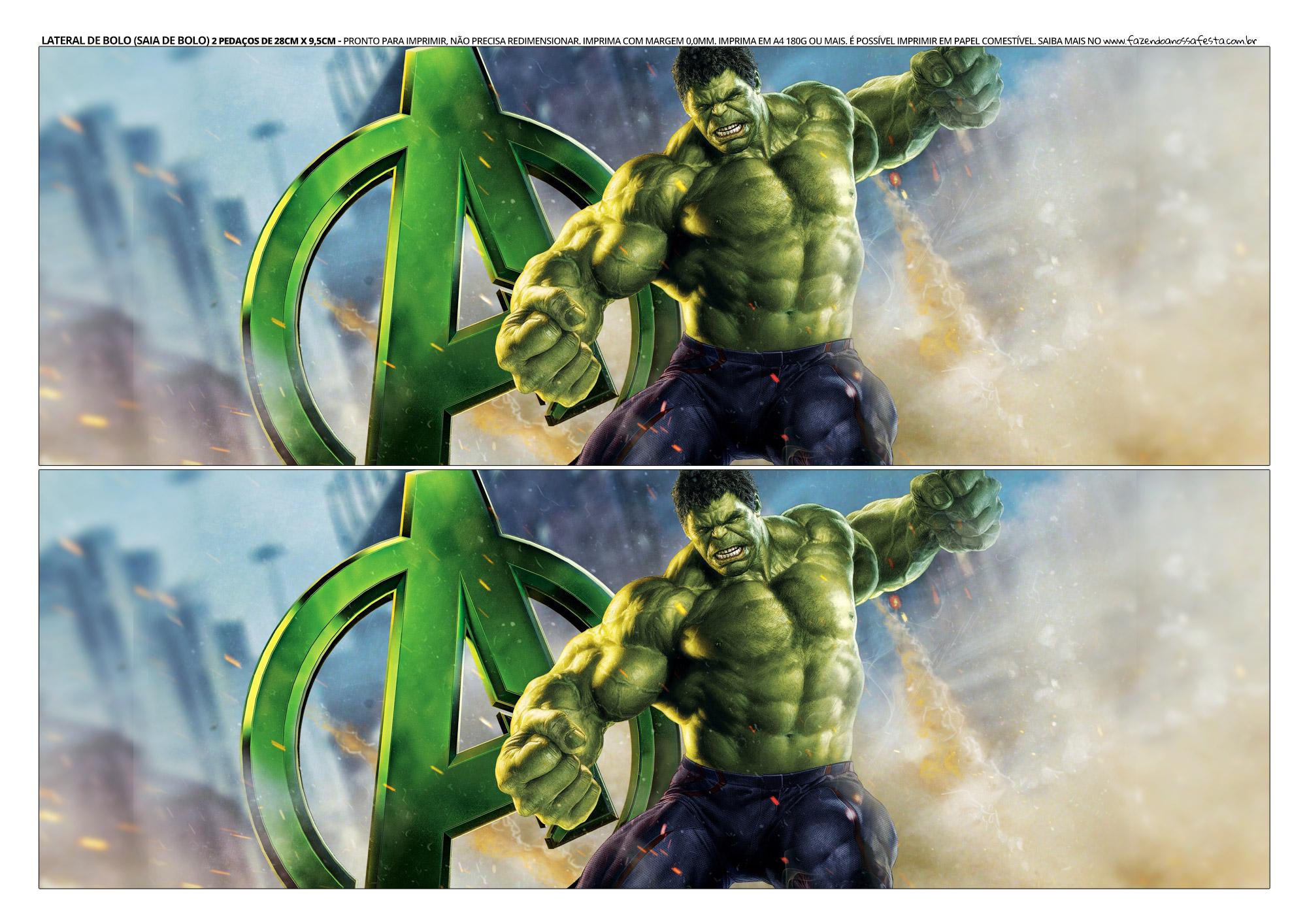 Faixa Lateral para Bolo Hulk 9