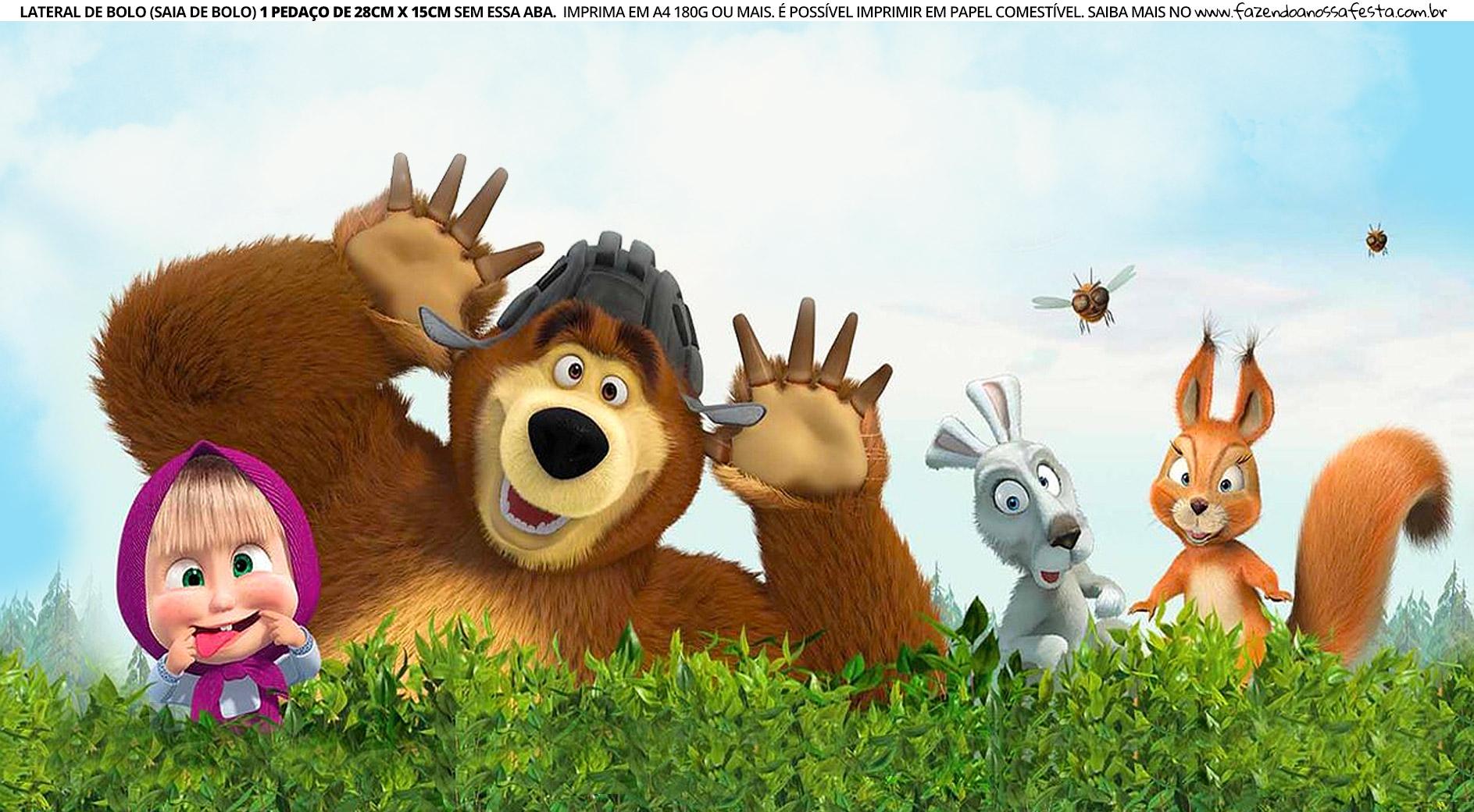 Faixa Lateral para Bolo Masha e o Urso 2