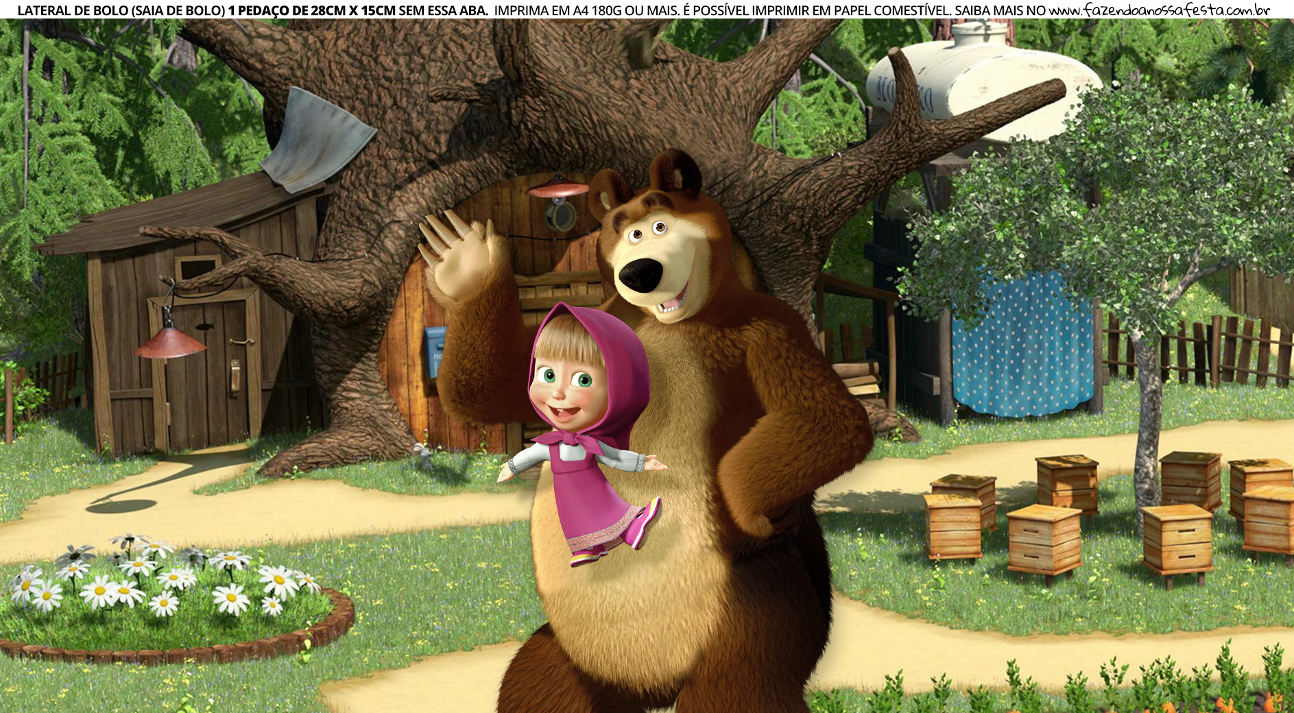 Faixa Lateral para Bolo Masha e o Urso 6