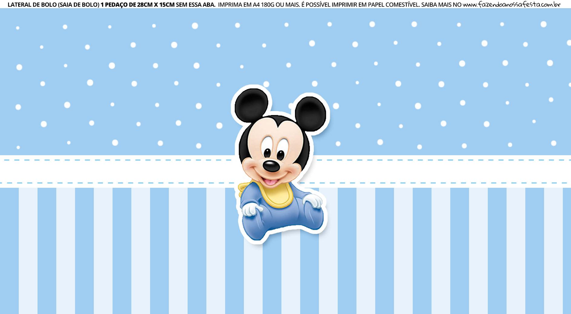 Faixa Lateral para bolo Mickey Baby 5