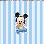 Faixa Lateral para bolo Mickey Baby 7