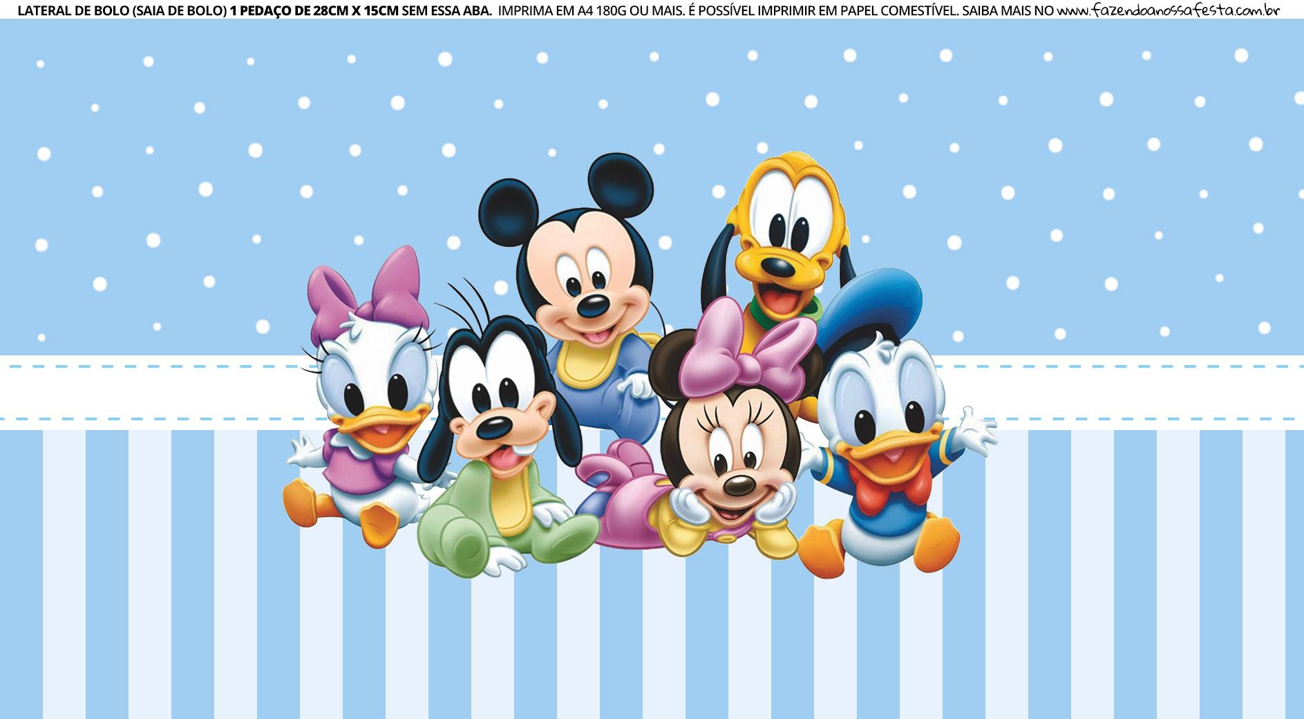 Faixa Lateral para bolo Mickey Baby