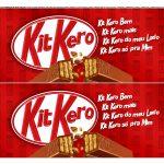 Faixa lateral de bolo Dia dos Namorados Kit Kat 2