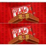 Faixa lateral para bolo Dia dos Namorados Kit Kat 3